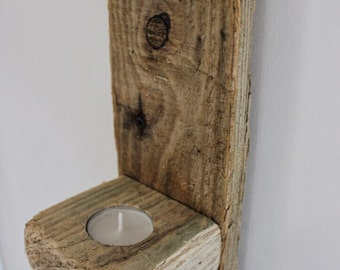 Driftwood Candle Sconce