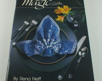 Napkin Magic Pamphlet by Rena Neff - Published by The American Cooking Guild - 1990