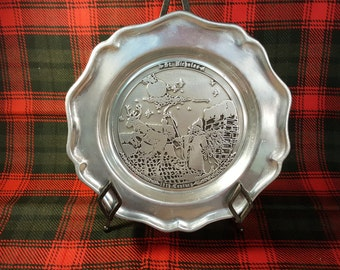 Christmas Pewter St. Nicholas Pewter Plate 1987 HTF Limited Edition 303/2500 Pewterex York PA Memorabilia Christmas Pewter Free Shipping