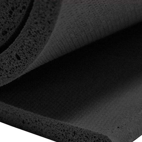 Quot r sponge rubber sheet black color