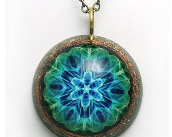 Magical purple mandalagift for herorgone pendantmetatron giftwater glow mandala orgone pendant orgone necklaceharmonizing jewelry mandala mozeypictures Images