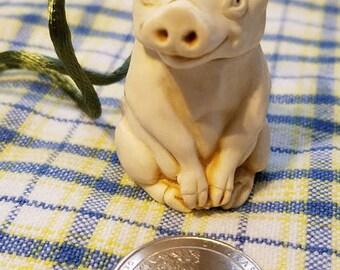 Vintage 'Baroness Trotter' pig trinket necklace