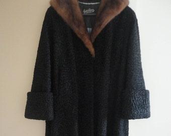 Swakara Lamb Fur Coat XXL