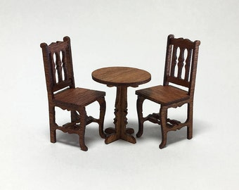 Quarter Scale Kit - Table and 2 Chairs