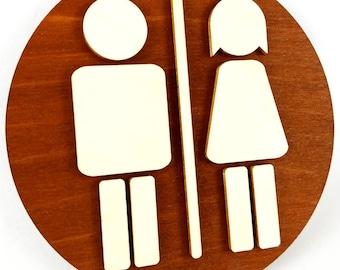 Round Toilet Door Sign, WC Sign, Restroom Door Sign, Toilet Decor, Toilet Plate, Toilet Plaque, Toilets Sign, Bathroom, Toilet, Cabin Sign