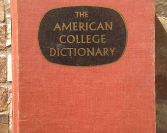 Vintage 1967 Edition of The American College Dictionary