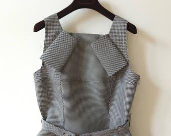 BOTTEGA VENETA DRESS · Eu 36 · Uk 10 · Houndstooth pattern