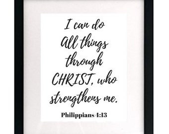 I Can Do All Things Through Christ Digital Print