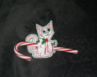Peppermint Kitty Candy Cane Holder