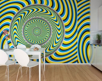 Large Funky Fuzzy Pattern Photo Wallpaper Wall Mural For Living Room Decals Dining