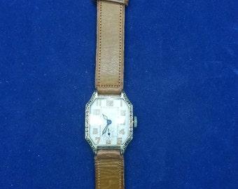 1920 Men Deco Watch Early Wrist Watch