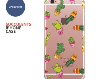 Succulent iPhone 6 Case, Succulent iPhone 7 Case, Cool iPhone Case, Also Available for 6 Plus & 6s Plus (Shipped From UK)