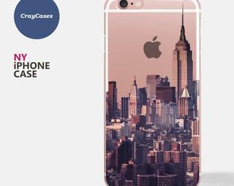 New York Skyline iPhone 7 Case, New York Skyline iPhone 6s Case, iPhone 6 plus case, iPhone 6s Plus case, clear iphone case (Ships From UK)