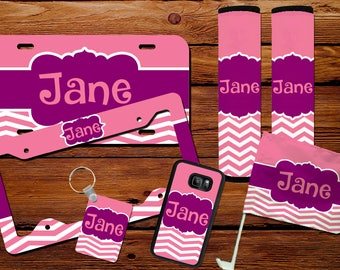 Customizable Car License Plate, Car Flag, Seat Belt Covers, Cell phone Case, Key Chain