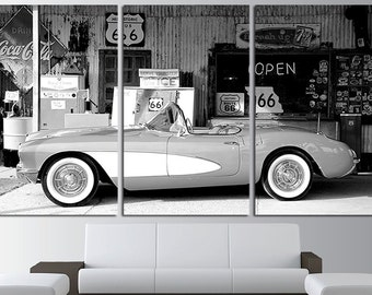 Corvette Old Cars Old Mobile Corvette Poster Corvette Canvas Corvette Wall Decor Corvette Wall Art Corvette Print Corvette Photo Vintage Car