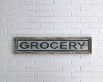 "GROCERY SIGN | 7"" x 33.25"" 