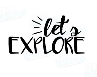 Let's Explore Car Decal | Car Decal | Window Decal | Explore Decal | Car Quote Decal | Wanderlust | Travel Decal