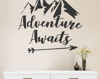 Adventure Awaits -  Vinyl Wall Decal / Sticker Quote