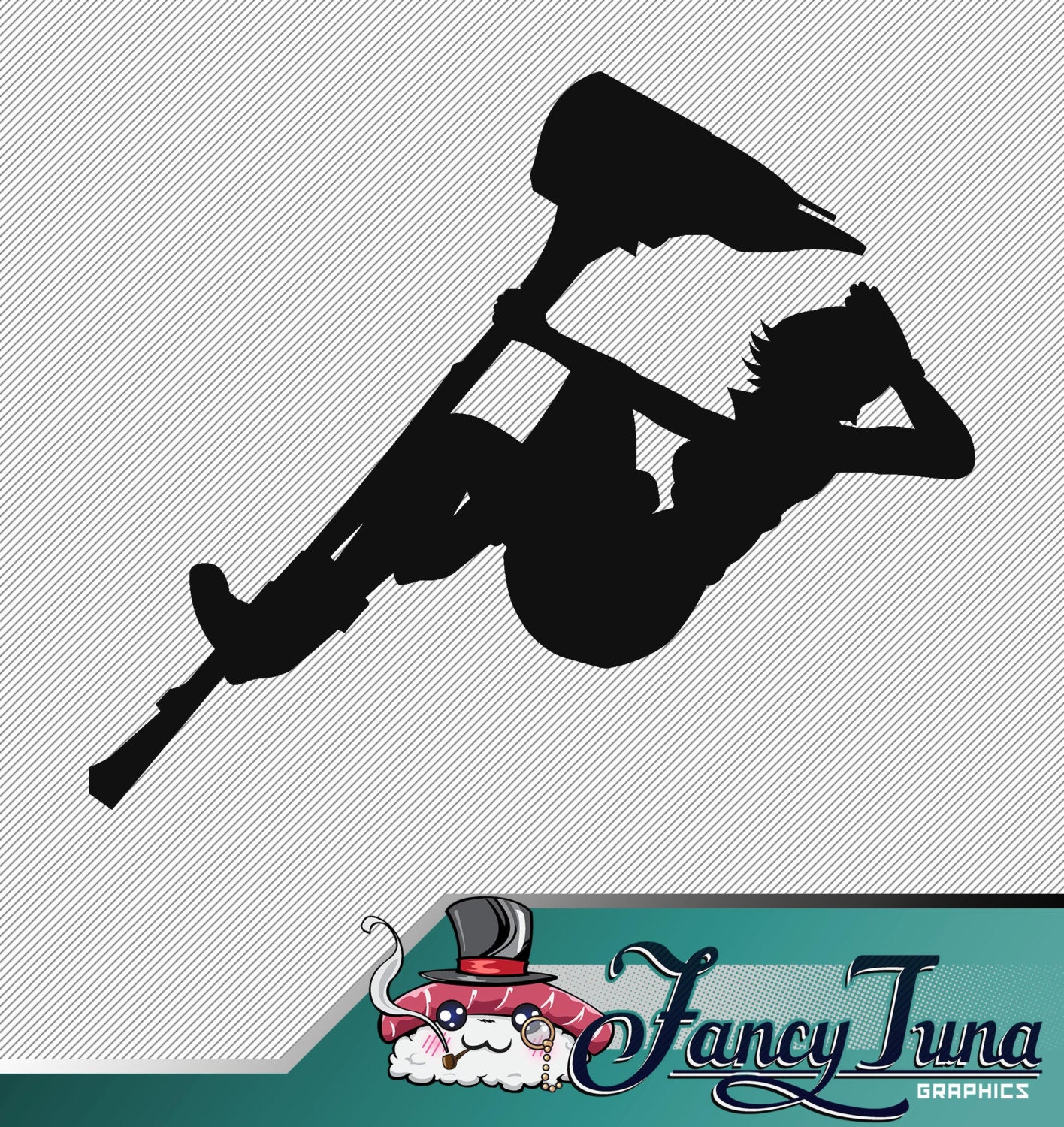 vinyl decal rwby nora valkyrie silhouette from
