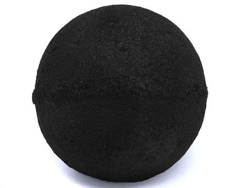 XL Black Bath Bomb! - Goth Bath Fizzie, Relaxing Spa Gifts, Activated Charcoal High Quality Handmade Bath Bombs (choose your own scent and s