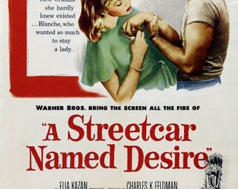 Vintage A Streetcar Named Desire Movie Poster A3/A2/A1 Print