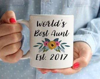 Aunt Mug, Auntie Mug, Worlds Best Aunt Mug, Worlds Best Auntie Mug, Aunt Coffee Mug, Aunt Cup, Gifts for Aunts, Gift for Auntie, Aunt To Be,