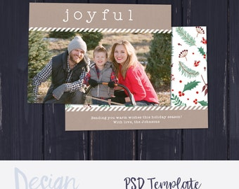 Holiday Photo Card Template for Photographers | Christmas Card Template for Photographers | Holiday Card Templates | Photography Templates