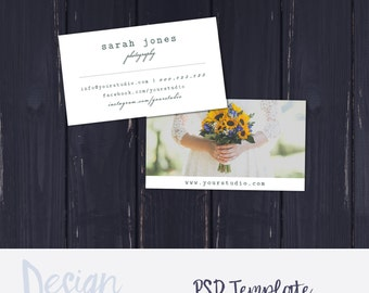 Wedding Photography Business Card Template |Photography Business Card | Photography Photoshop Template |Photography Marketing  | Instant