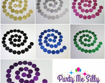"Glitter circle confetti 5/8"" (200 pieces) small round confetti Decor, Wedding, Birthday, Graduation, Celebration, Party, READY TO SHIP!!!"