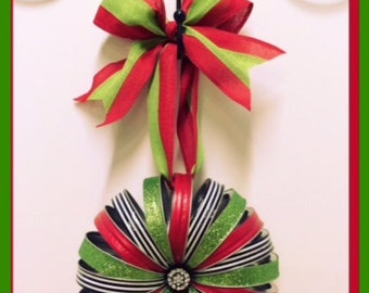 Mason Jar Lid Christmas Wreath - Regular Size Lid