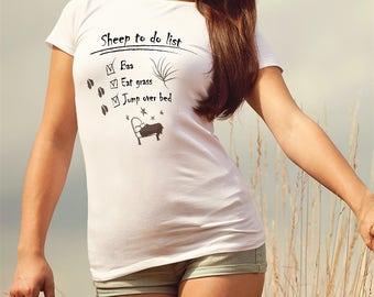 Sheep Shirt To Do List Women's Clothing - Sheep T-shirt Women's Apparel - Baa Sheep Clothing For Women - Baa T-shirt Sheep Shirt For Women