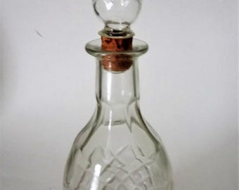 Vintage Wine Cut Glass Decanter Jug Carafe London Winery Limited Clear Glass Decanter