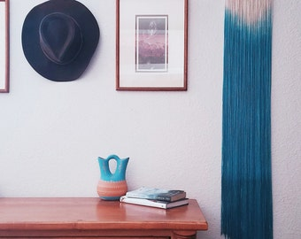 WAVES | dip dye wall hanging (made to order)