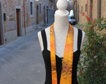 Silk tie, Tie for men, Orange tie, Artsy tie, Fun tie, Hand painted tie, Twill Silk tie, Made in Italy tie, Hand made tie, Unisex tie.