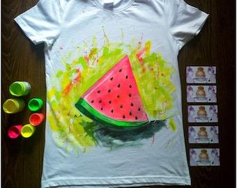 Hand Painted T-Shirts - Vegan Shirt - The Weeknd Clothing - Birthday Gift For Her - Beach Shirt - Summer T-Shirts - Vegan Clothing