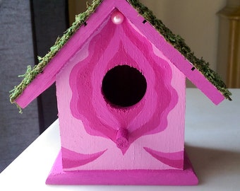 Birdbox \\ Floral Vagina Birdhouse \\ Pink Lotus
