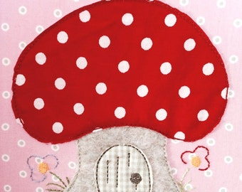Mushroom cottage Doodle embroidery file