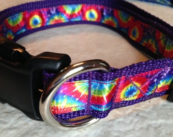 Dog Collar-Tie-Dye-Size Large