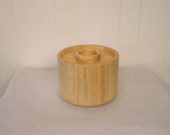 Dansk teak, ice bucket, staved wood, Scandinavian, Danish Modern, 1970s