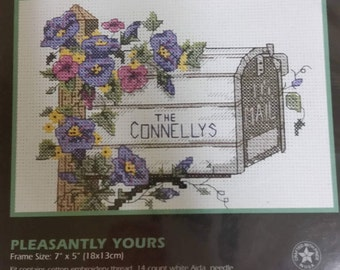 """Dimensions Counted Cross Stitch Kit # 6718, """"Pleasantly Yours"""""""