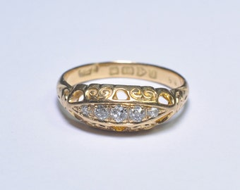 Edwardian 5 Stone Diamond Band Ring