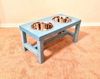 Dog Bowl Stand - Large Dog Bowl Stand - Farmhouse Style - Rustic Dog Bowl Stand - Raised Dog Bowl - Elevated Dog Bowl - Raised Dog Feeder