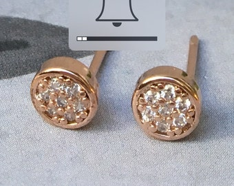 """The """"Positano"""" Rose Gold Pave Earrings"""