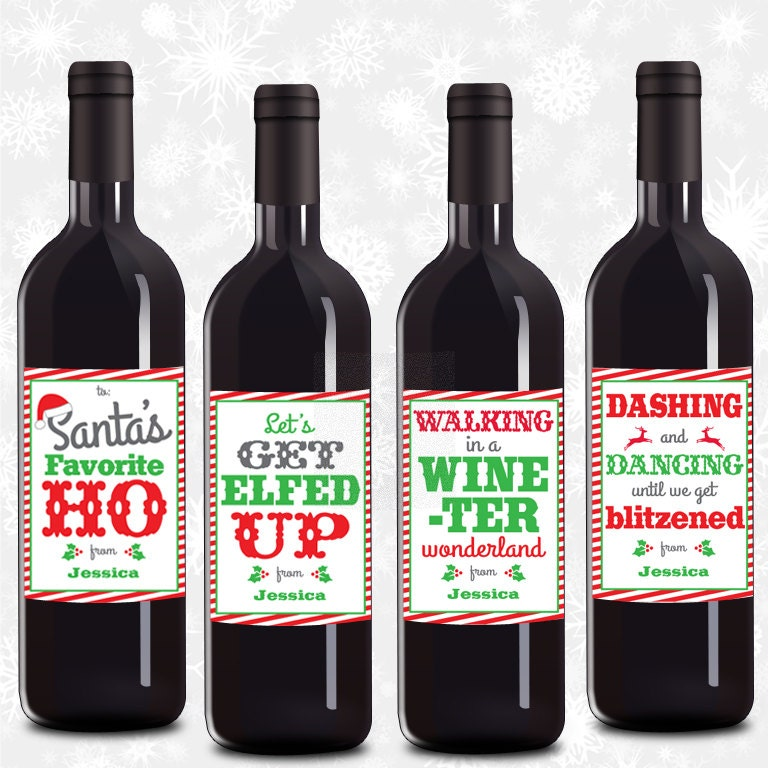 Personalized Wine Labels Christmas Wine Labels Funny Wine