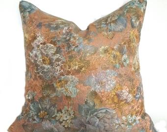 Pastel Floral Pillow Cover, Vintage Look Cushion, Neutral Throw Pillow Cover, Pastel Pillow, Flowers, Floral Pillowcase, Vintage Pillow