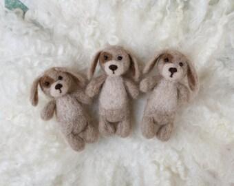 Felted puppy stuffy newborn photography prop
