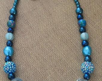 Beaded Jewelry Set / Blue