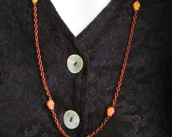 Orange Skull Necklace