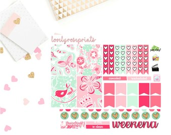 Sweet Birds White Space EC Vertical Weekly Kit
