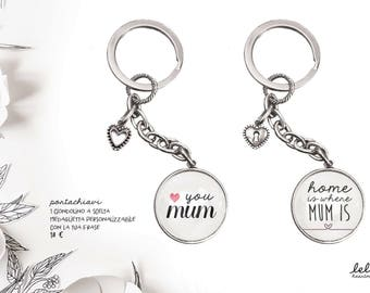 Keyring personalized with graphics and charms-Gift Idea